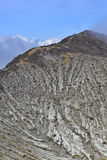 Spitze aktiven volanic Kraters Kawah Ijen in Osttimor Lizenzfreies Stockbild