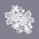 Spitze blüht Dekorationselement stock abbildung