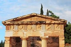 Spitze der alten Stadt Delphi, Griechenland Stockfoto