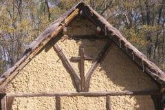 Spitze der Kirche in historischem Jamestown, Virginia, Standort der ersten englischen Kolonie lizenzfreies stockbild
