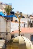Spitze der Sheikh Lulu-Moschee nahe dem Damaskus-Tor in der alten Stadt von Jerusalem, Israel stockfoto