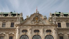 Spitze des Belvedere-Palastes Stockfoto