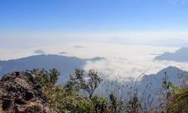 Spitze des Berges stockbilder