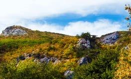 Spitze des Berges stockfoto