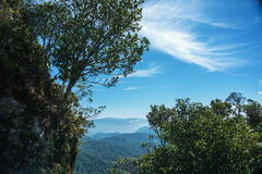 Spitze des Berges Stockbild