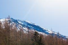Spitze des Berges Stockfotografie