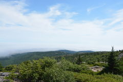 Spitze des Berges Stockfotos