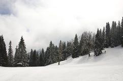 Spitze des Berges mit Schnee Stockbild