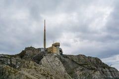 Spitze des Bergs Saentis die Schweiz (Santis) Stockfotos