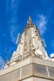 Spitze des Empire State Building Stockfotografie
