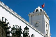 Spitze des Finanzministeriums Gebäude in Tunis, Tunesien stockbilder