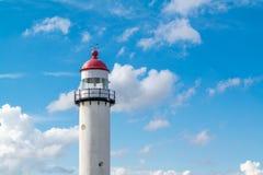 Spitze des Leuchtturmes, die Niederlande Stockfotos