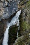 Spitze des Savica-Wasserfalls Stockfotografie