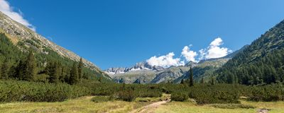 Spitze des Sorgfalt-Altes - Adamello Trento Italien Lizenzfreie Stockfotografie