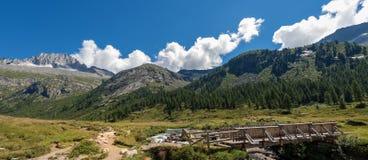 Spitze des Sorgfalt-Altes - Adamello Trento Italien Stockbild