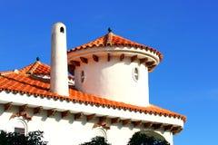 Spitze des spanischen Artdachs in Alcossebre Lizenzfreies Stockbild