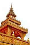 Spitze des thailändischen Tempels stockfoto