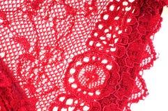 Spitze einer roten Unterwäsche lizenzfreie stockbilder