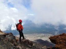 Spitze eines Berges Stockfotos