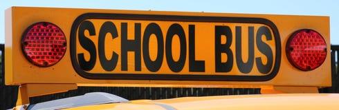 Spitze eines gelben Schulbusses lizenzfreies stockbild