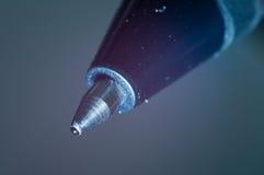 Spitze eines Kugelschreibers Stockfotos