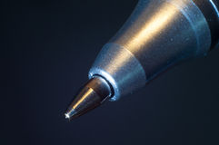 Spitze eines Kugelschreibers Lizenzfreies Stockbild