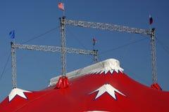 Spitze eines Zirkuszeltes lizenzfreies stockbild