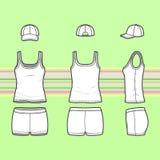 Spitze, Kappe und kurze Hosen eingestellt stock abbildung