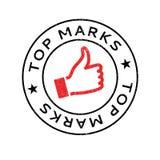 Spitze markiert Stempel Lizenzfreie Stockfotos