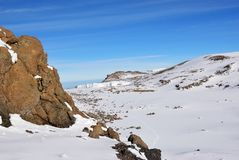 Spitze Mt Kilimanjaro Tanzania, Afrika stockbilder