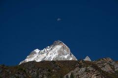 Spitze und Mond Sichuans Inagi Aden Xian Nairi Stockbild
