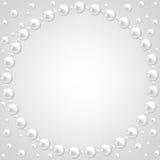 Spitze- und Perlenrahmen Stockfoto