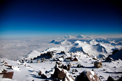 Spitze von Aconcagua Stockfotos