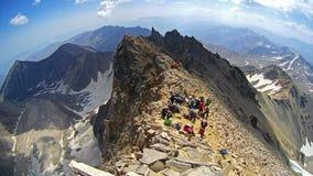 Spitze von Alamkuh-Gipfel stockfotos