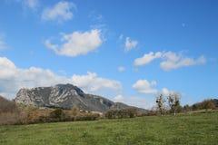 Spitze von Bugarach im Corbieres, Frankreich stockfotografie