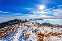 Spitze von Deogyusan-Bergen im Winter, Korea Lizenzfreies Stockfoto