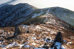 Spitze von Deogyusan-Bergen im Winter, Südkorea Lizenzfreie Stockfotografie