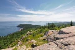 Spitze von Gorham-Berg Maine Stockbild