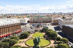 Spitze von Heilig-Isaacs Kathedrale, St Petersburg Stockfotos