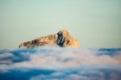 Spitze von Julian Alps lizenzfreies stockbild