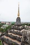 Spitze von Patuxai-Denkmal Stockbilder