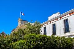 Spitze von Rathaus, Arcachon, Frankreich Stockfotografie