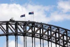 Spitze von Sydney Harbour Bridge Stockfotografie