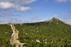 Spitze von Szrenica - Krkonose stockbild