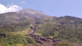 Spitze von Tungurahua-Vulkan stock video footage