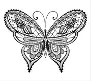 Spitzen- abstrakter Schmetterling Lizenzfreies Stockbild