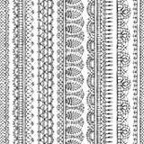 Spitzen- croched nahtloses Muster des Vektors Stockfotografie
