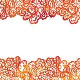 Spitzen- elegante Grenze Einladungskarte _1 Lizenzfreie Stockfotos