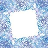 Spitzen- eleganter Rahmen Einladungskarte _1 Lizenzfreies Stockbild