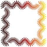 Spitzen-glühender Grenzrahmen vektor abbildung
